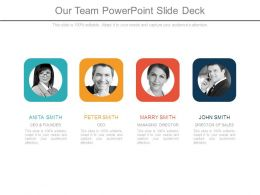 Our Team Powerpoint Slide Deck