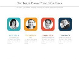 Our Team Powerpoint Slide Deck
