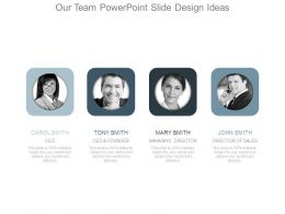Our Team Powerpoint Slide Design Ideas