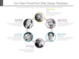 Our Team Powerpoint Slide Design Templates