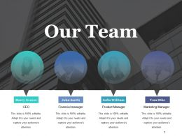 Our Team Powerpoint Slide Templates 1