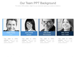 Our Team Ppt Background