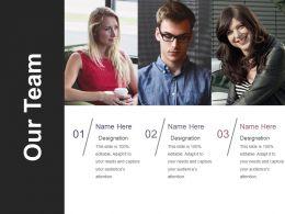 Our Team Ppt Design Templates