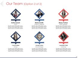 Our Team Ppt Example Professional Template 1