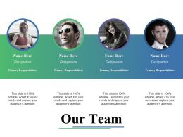 Our Team Ppt Gallery Shapes