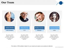 Our Team Ppt Gallery Slide Portrait