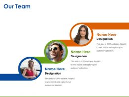 Our Team Ppt Infographic Template