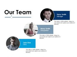 Our Team Ppt Infographic Template Design Templates