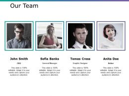 Our Team Ppt Infographic Template Influencers