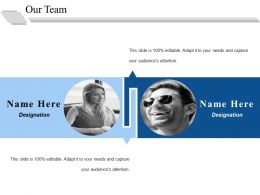 Our Team Ppt Infographics Visual Aids
