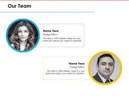 59119294 Style Essentials 1 Our Team 2 Piece Powerpoint Presentation Diagram Infographic Slide