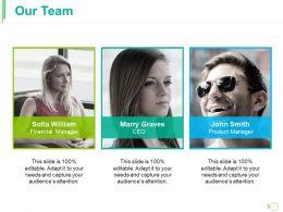 Our Team Ppt Portfolio Background Image