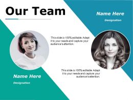 30390083 Style Essentials 1 Our Team 2 Piece Powerpoint Presentation Diagram Infographic Slide