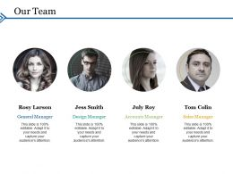 Our Team Ppt Portfolio Graphics Tutorials