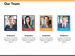 Our Team Ppt Powerpoint Presentation Inspiration Format