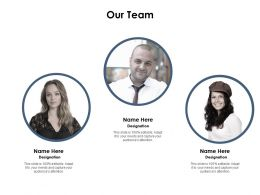 Our Team Ppt Powerpoint Presentation Outline Slideshow