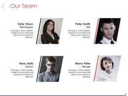 Our Team Ppt Presentation Examples Template 1