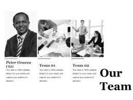 Our Team Ppt Professional Design Inspiration
