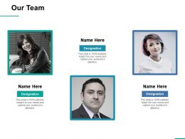 Our Team Ppt Professional Example Introduction