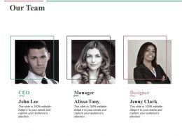 Our Team Ppt Professional Slide Portrait