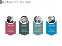 Our Team Ppt Slide Styles