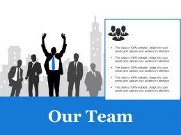 68276046 Style Essentials 1 Our Team 5 Piece Powerpoint Presentation Diagram Infographic Slide