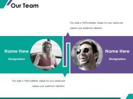 34888845 Style Essentials 1 Our Team 2 Piece Powerpoint Presentation Diagram Infographic Slide