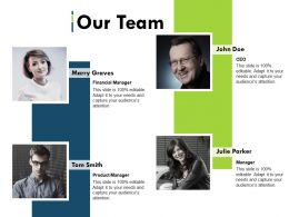 Our Team Ppt Summary Slide Portrait
