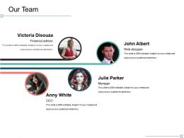 Our Team Presentation Portfolio Template 1