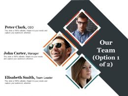 Our Team Presentation Powerpoint Templates