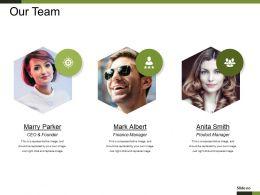 Our Team Presentation Visual Aids