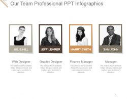 Our Team Professional Ppt Infographics