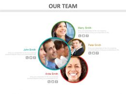 Our Team Slide For Business Growth Indication Powerpoint Slides