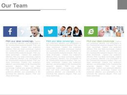 Our Team Slide For Social Media Communication Powerpoint Slides