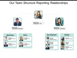 Our Team Structure Reporting Relationships