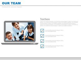 Our Team Video Communication With Checklist Powerpoint Slides
