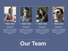 Our Team With Best Personality Ppt File Layouts
