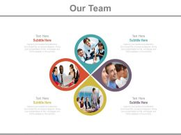 Our Team With Business Information Representation Powerpoint Slides