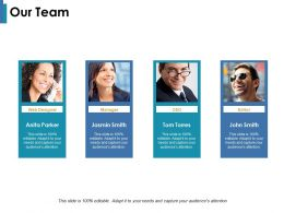 Our Team With Four Member Ppt Infographic Template Visuals