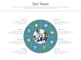34086074 Style Essentials 1 Our Team 8 Piece Powerpoint Presentation Diagram Infographic Slide