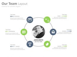 Our Team With Social Networking Powerpoint Slides