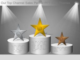 Our Top Channel Sales People Ppt Slide Themes