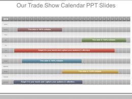 Our Trade Show Calendar Ppt Slides