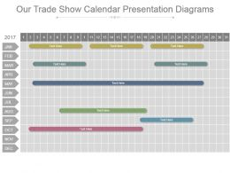 Our Trade Show Calendar Presentation Diagrams