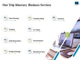 Our Trip Itinerary Business Services Ppt Powerpoint Presentation Ideas Design Ideas