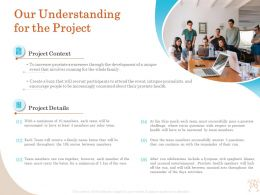 Our Understanding For The Project Ppt Outline