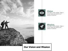 Our Vision And Mission A107 Ppt Powerpoint Presentation Gallery Design Ideas