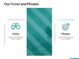 Our Vision And Mission A417 Ppt Powerpoint Presentation Inspiration Graphics