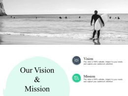 Our Vision And Mission H214 Ppt Powerpoint Presentation Show Inspiration