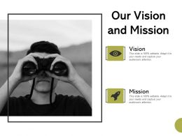 Our Vision And Mission Planning Ppt Powerpoint Presentation Styles Graphics Tutorials